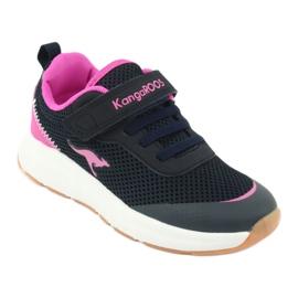 KangaROOS buty sportowe na rzepy 18507 navy/pink 1