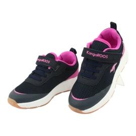 KangaROOS buty sportowe na rzepy 18507 navy/pink 3