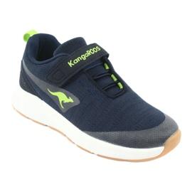 KangaROOS buty sportowe na rzepy 18508 navy/lime granatowe zielone 1