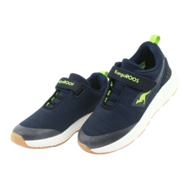 KangaROOS buty sportowe na rzepy 18508 navy/lime granatowe zielone 3