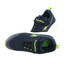 KangaROOS buty sportowe na rzepy 18508 navy/lime granatowe zielone 5
