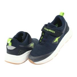 KangaROOS buty sportowe na rzepy 18508 navy/lime granatowe zielone 4