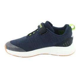 KangaROOS buty sportowe na rzepy 18508 navy/lime 2