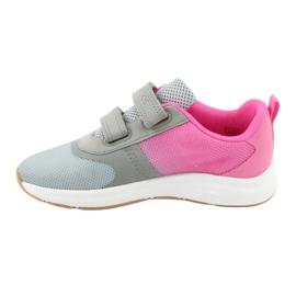 KangaROOS buty sportowe na rzepy 18506 grey/neon pink różowe szare 2