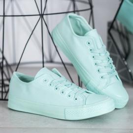 Fashion Klasyczne Trampki zielone 3