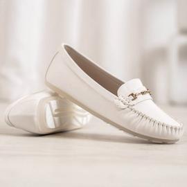 Fama Eleganckie Mokasyny białe 3