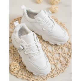 Bella Paris Sznurowane Białe Sneakersy 3
