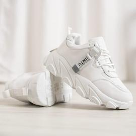 Bella Paris Sznurowane Białe Sneakersy 2