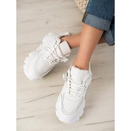 Bella Paris Sznurowane Białe Sneakersy 4