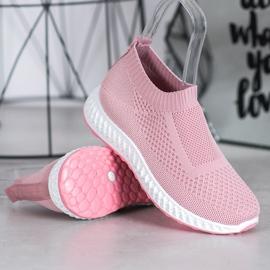 Goodin Ażurowe Buty Sportowe różowe 3