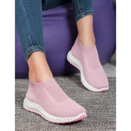 Goodin Ażurowe Buty Sportowe różowe 1