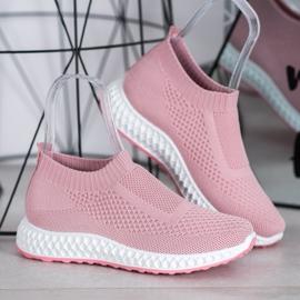 Goodin Ażurowe Buty Sportowe różowe 4