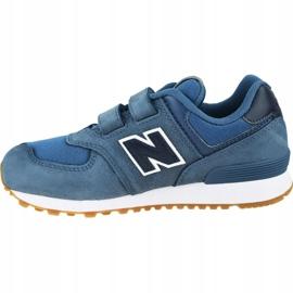 Buty New Balance Jr YV574PRN niebieskie 1