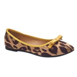 Leopard mokasyny balerinki HH17 brązowe 1