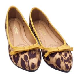 Leopard mokasyny balerinki HH17 brązowe 3