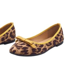 Leopard mokasyny balerinki HH17 brązowe 4
