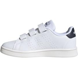 Buty adidas Advantage C Jr FW2589 białe 2