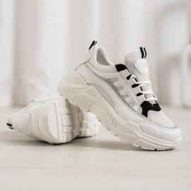 SHELOVET Stylowe Sneakersy białe 2