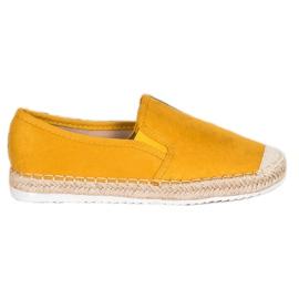 Goodin Zamszowe Espadryle żółte 1
