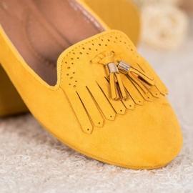 Fama Zamszowe Lordsy Z Frędzlami żółte 5