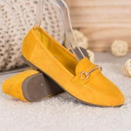 Bestelle Stylowe Mokasyny Z Ozdobą żółte 3