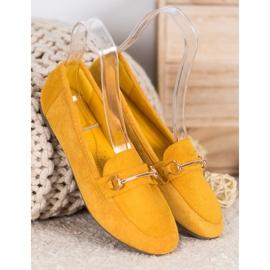Bestelle Stylowe Mokasyny Z Ozdobą żółte 1