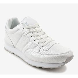 Białe męskie obuwie sportowe 5535-1 1