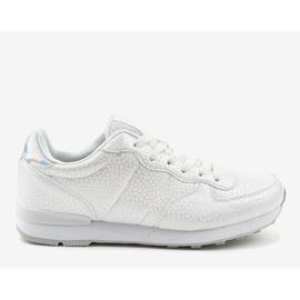 Białe męskie obuwie sportowe 5535-1 2