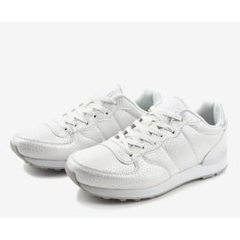 Białe męskie obuwie sportowe 5535-1 3