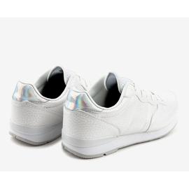 Białe męskie obuwie sportowe 5535-1 4