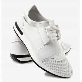 Białe obuwie sportowe męskie B18-101 3