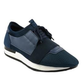 Granatowe obuwie sportowe męskie B18-101 1