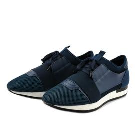Granatowe obuwie sportowe męskie B18-101 2