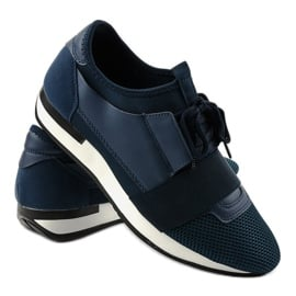 Granatowe obuwie sportowe męskie B18-101 3
