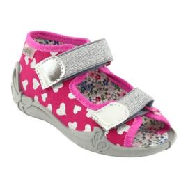 Befado obuwie dziecięce 242P104 różowe szare 2