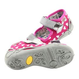 Befado obuwie dziecięce 242P104 różowe szare 6