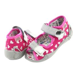 Befado obuwie dziecięce 242P104 różowe szare 5