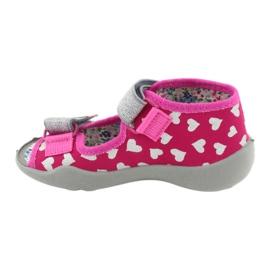 Befado obuwie dziecięce 242P104 różowe szare 3