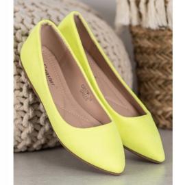 Seastar Neonowe Balerinki żółte 4