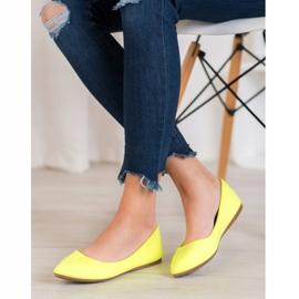 Seastar Neonowe Balerinki żółte 2