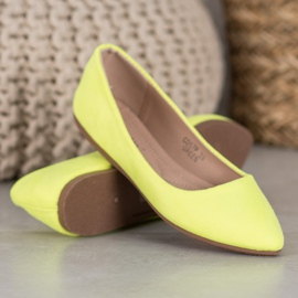 Seastar Neonowe Balerinki żółte 3