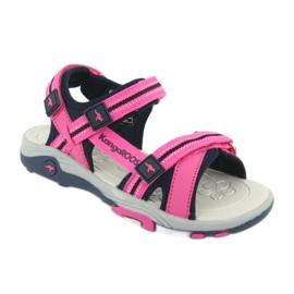 Sandałki piankowa wkładka KangaRoos 18335 granatowe różowe szare 1