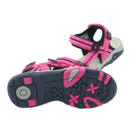 Sandałki piankowa wkładka KangaRoos 18335 granatowe różowe szare 5