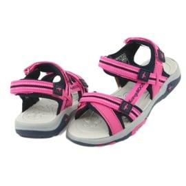 Sandałki piankowa wkładka KangaRoos 18335 granatowe różowe szare 4