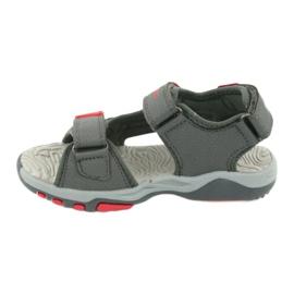 Sandałki wkładka piankowa KangaRoos 18337 czerwone szare 2