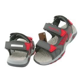 Sandałki wkładka piankowa KangaRoos 18337 czerwone szare 4