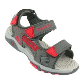 Sandałki wkładka piankowa KangaRoos 18337 czerwone szare 1