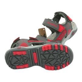 Sandałki wkładka piankowa KangaRoos 18337 czerwone szare 5