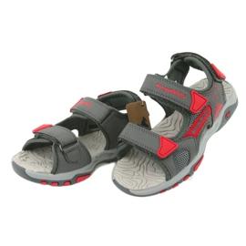 Sandałki wkładka piankowa KangaRoos 18337 czerwone szare 3