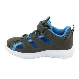 Sandałki z piętą na rzepy KangaRoos 02058 szary niebieskie szare 2